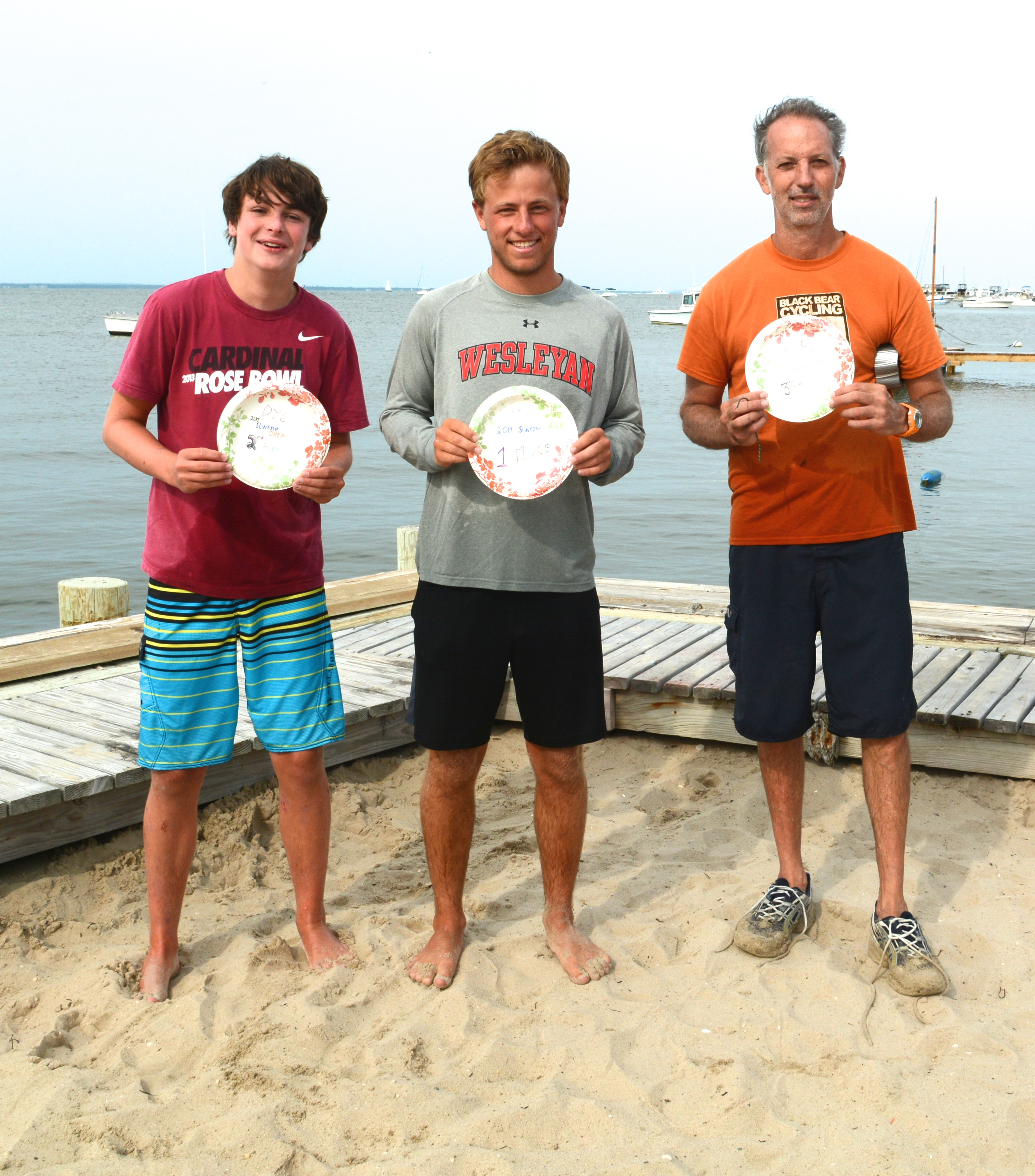 From left to right: Sam Bither - 2nd Place Jake Singer -  1st Place Stephen Rosenthal - 3rd Place