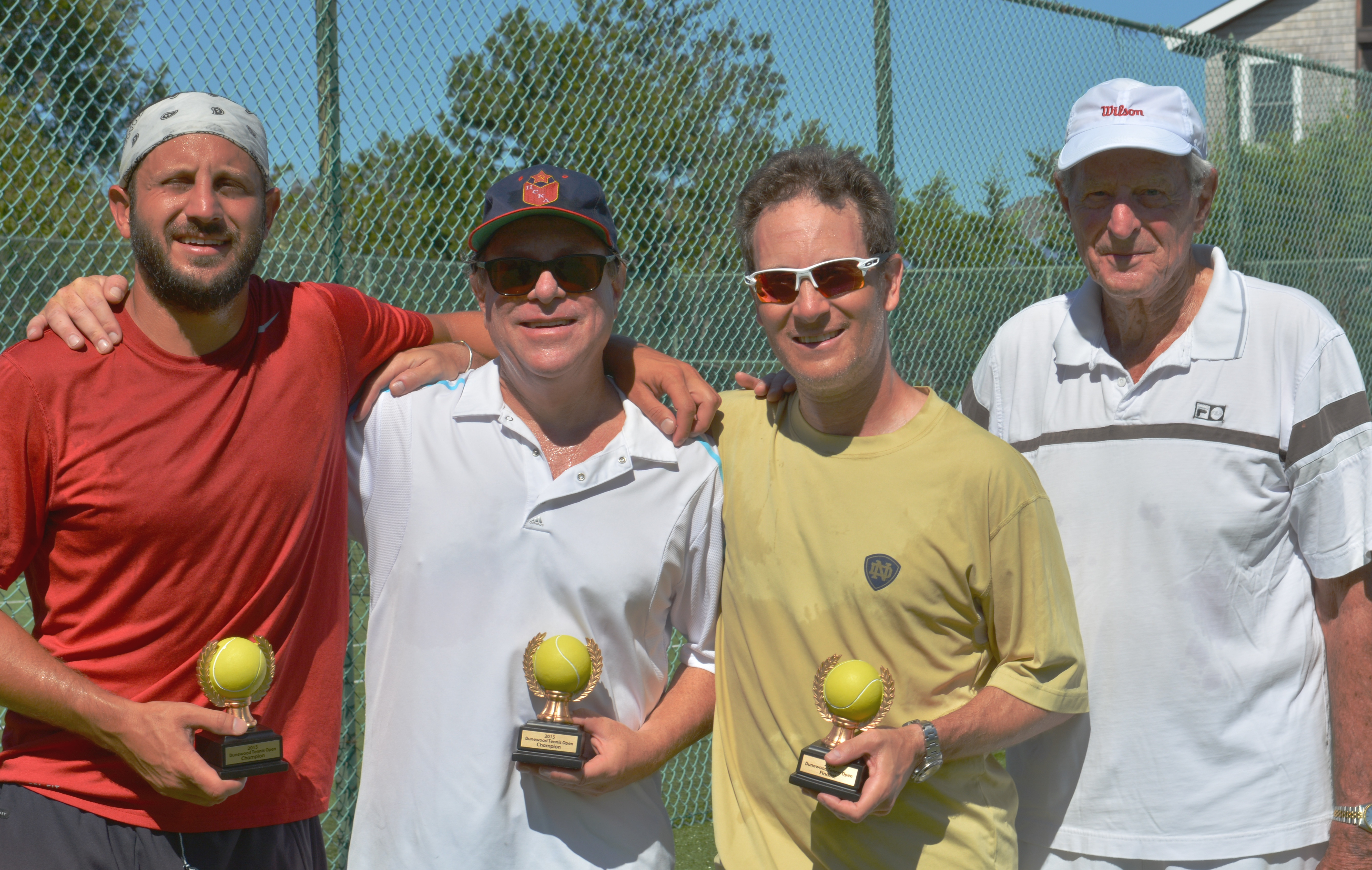 From left to right: 2015 -Finalist: Rich Perna & Rich Roth.  Runners up: Peter Taub & Bob Stone.