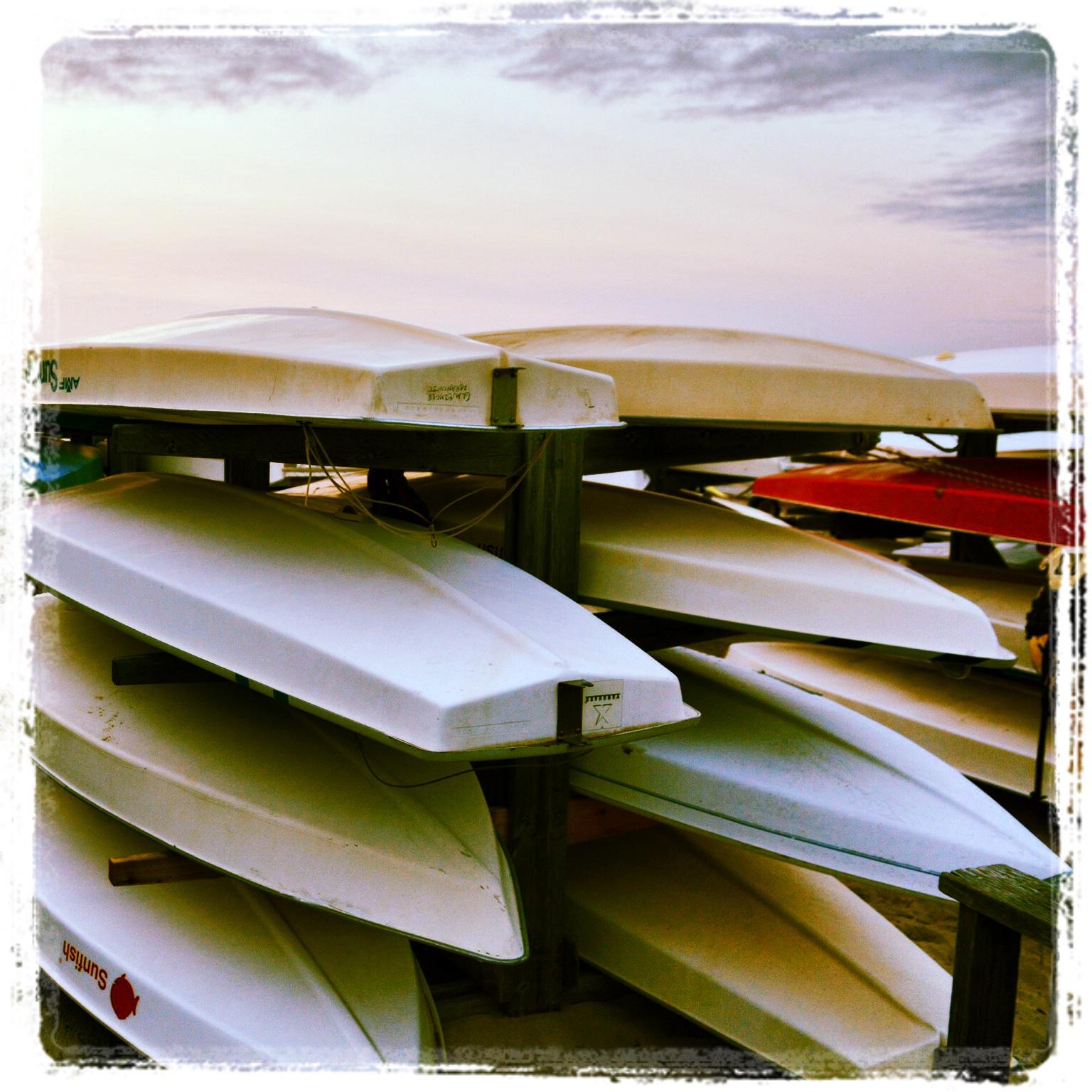 Sailboats Racks at the DYC